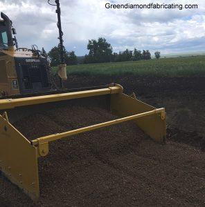 dozer spreading gravel