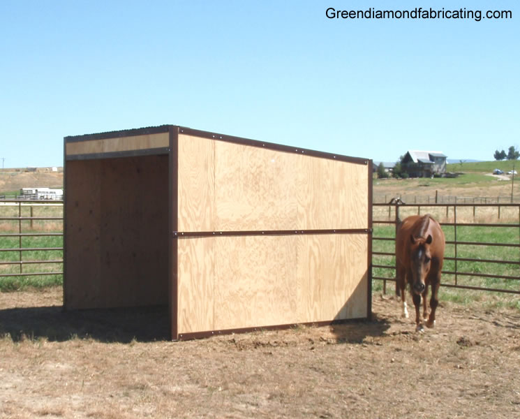 lean to horse shelter