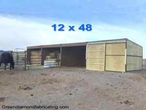 Horse shed row